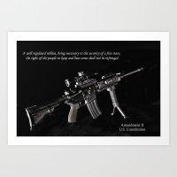 2nd Amendment Art Print