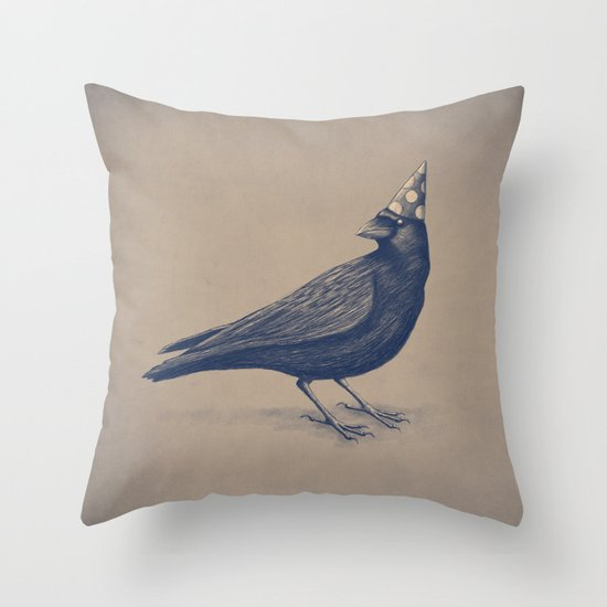 Rocking Raven Throw Pillow