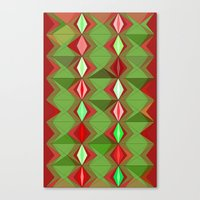 Waterbomb Holiday Colors Canvas Print
