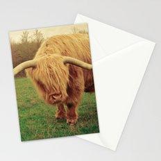 Scottish Highland Steer - regular version Stationery Cards