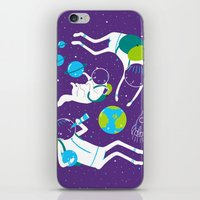 A Day Out In Space - Purple iPhone & iPod Skin