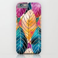 iPhone & iPod Case featuring Colorful Leaves Pattern by Klara Acel