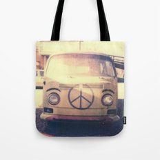 Happy VW Van Polaroid Tote Bag