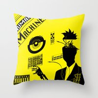 Human Machines Throw Pillow