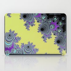 Asymmetrical Fractal in Yellow, Black and Purple iPad Case