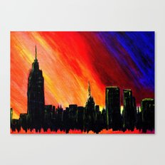When the Lights Go Down in the City Canvas Print