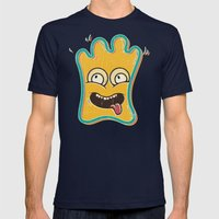 Cute Monster Mens Fitted Tee Navy SMALL