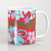 Tropical Floral Print Mug