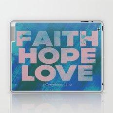 Faith,Hope,Love (Pink) Laptop & iPad Skin