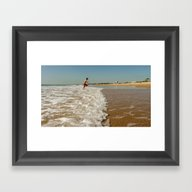 Carcavelos Sea Framed Art Print