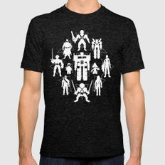 Plastic Heroes Mens Fitted Tee Tri-Black SMALL