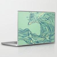 ocean Laptop & iPad Skins featuring Ocean Breath by Huebucket