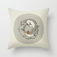 Forest /// Funeral Throw Pillow