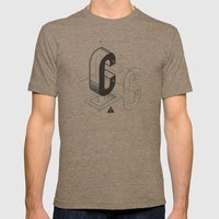 The Exploded Alphabet / C Mens Fitted Tee Tri-Coffee SMALL