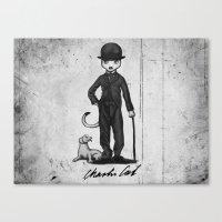 Charlie Cat Canvas Print