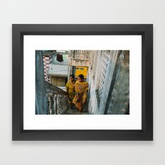 Walking to Class Framed Art Print