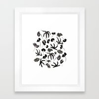 Plastic jungle pattern Framed Art Print