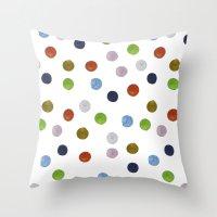 Pinpoint Dots Throw Pillow