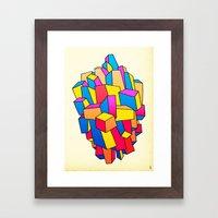 - summer Stadt - Framed Art Print