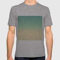 Retro Turquoise And Crea… Mens Fitted Tee Athletic Grey SMALL