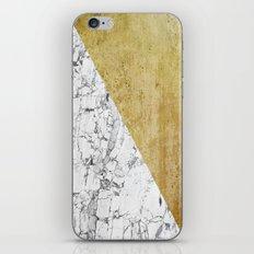 Marble vs GOld iPhone & iPod Skin