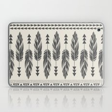 Tribal Feathers-Black & Cream Laptop & iPad Skin