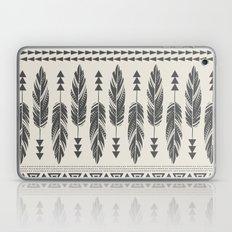 Tribal Feathers-Black & … Laptop & iPad Skin