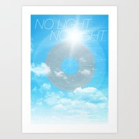No Light No Light Art Print