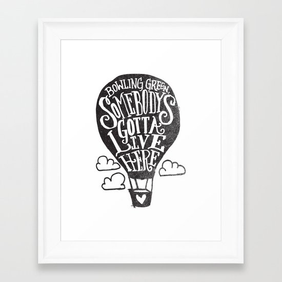 BOWLING GREEN, DIRIGIBLE Framed Art Print