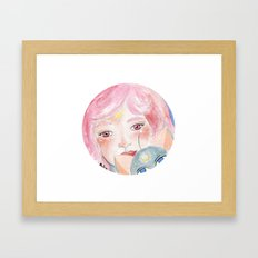 Chibi Moon Framed Art Print
