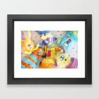 Little Monsters Framed Art Print