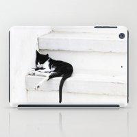 Black on White 2 iPad Case
