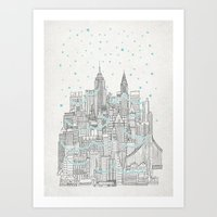 Winter In New York Art Print