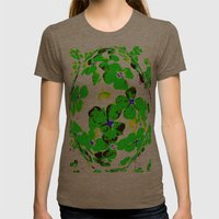 Floral Easter Egg Womens Fitted Tee Tri-Coffee SMALL