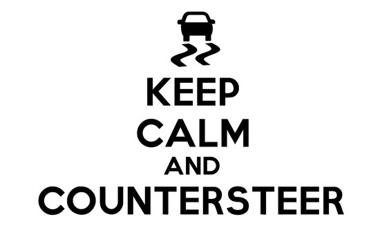Keep Calm and Countersteer Canvas Print