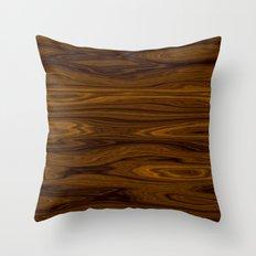 Wood Brown Throw Pillow