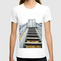 Stairway (2) Womens Fitted Tee White SMALL