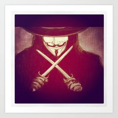V for Vendetta4 Art Print