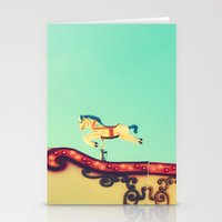 The Hidden Funfair Horse Stationery Cards