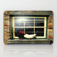 iPad Case featuring Roosters On A Ledge  by Chris' Landscape Ima…