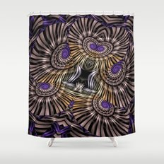 Metallic spirals, shapes and textures. Shower Curtain