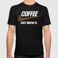 Just Brew It Mens Fitted Tee Tri-Black SMALL