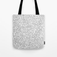 1000 imaginary friends and one bear Tote Bag