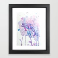 Watercolor Dolphin Framed Art Print