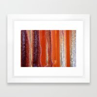 Sunstripes Framed Art Print