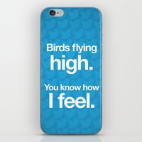 Birds flying high. iPhone & iPod Skin