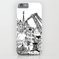 iPhone & iPod Case featuring Three City Silhouettes by Linda Åkeson