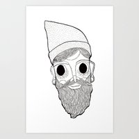 Beard Man Art Print