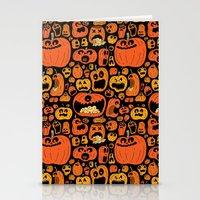Pumpkin Pattern Stationery Cards
