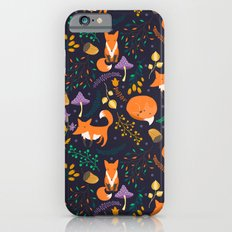 Foxes in magic forest Slim Case iPhone 6s
